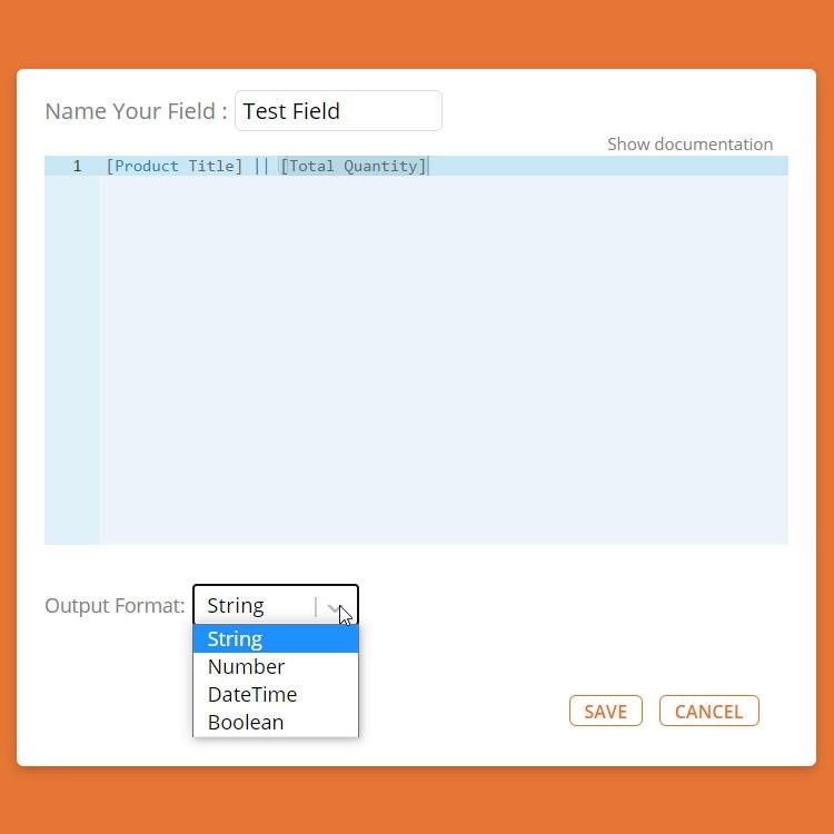 Data Export Screenshot - Custom Field